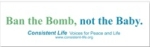 Ban the Bomb Bumper Sticker